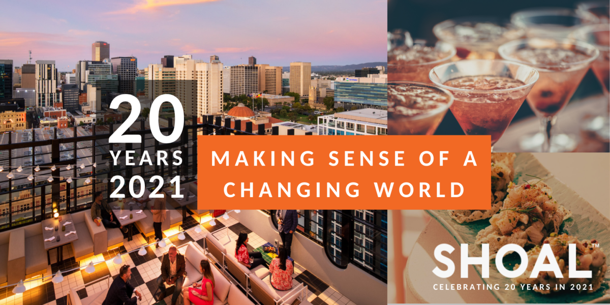 Shoal 20 years in 2021: making sense of a changing world